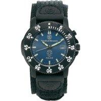 Ručičkové náramkové hodinky S&W, 76042, policejní, nylonový pásek, černá/tmavě modrá