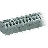 Pájecí svorkovnice série 250 WAGO 250-504, AWG 20-16, 0,4 - 0,8 mm², 5 mm, 2 A, šedá