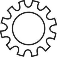 Podložky ozubené TOOLCRAFT 815292, vnitřní Ø: 2.2 mm, 100 ks