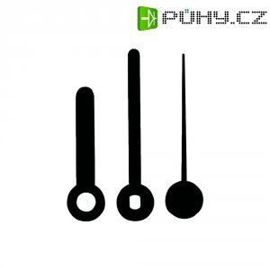 Sada hodinových ručiček Standard (h x m x s) 35 mm x 45 mm x 42 mm, plast, černá