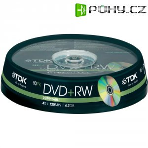 TDK DVD+RW 4,7GB 4X 10 ks cake box