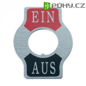 Štítek pro páčkové přepínače SCI, potisk EIN/AUF