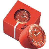 Analogové stolní hodiny Lolliclock, 44 x 44 x 47 cm, červená
