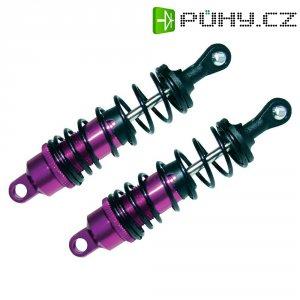 Olejový tlumič Reely, 84,4 mm, fialová/černá, 1:10, 2 ks (CB138PBA)