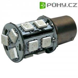 SMD LED žárovka Eufab BA15s, 13530, 3 W, BA15s, červená