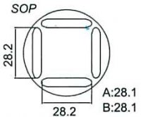 Nástavec na vyfoukávačku pro SOP 28,2x28,2mm
