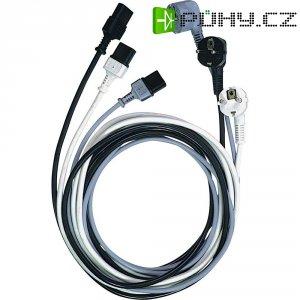 Síťový kabel s IEC zásuvkou LappKabel, 73222334, 2,5 m, černá