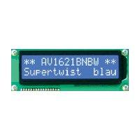 LCD displej Anag Vision, AV1611BNBW-WJ, 13,5 mm, Anag V, bílá/modrá