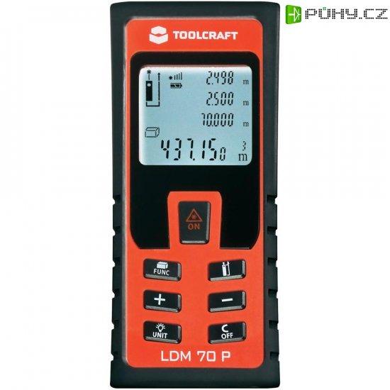 Laserový měřič vzdálenosti Toolcraft LDM 70 P, 70 m - Kliknutím na obrázek zavřete