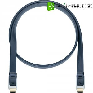 Oehlbach High Speed HDMI plochý kabel s Ethernetem, Flat Magic, 7,5 m