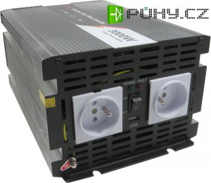 Měnič 12V/230V 3000W,modifikovaná sinus, JYINS