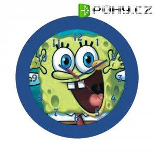Analogové nástěnné hodiny, QWU Sponge Bob, 25 cm