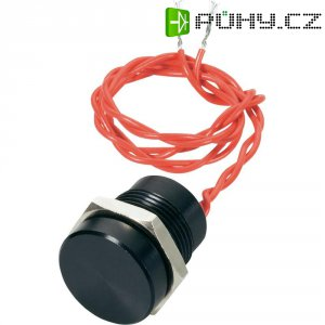 Piezo tlačítko APEM, 24 V DC/AC, 0,2 A, IP 69K, PBAR6CF2000, černá