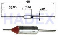 Tepelná pojistka 87°C axiální nevratná 10A/250V CE