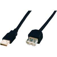 Kabel USB 2.0, USB A/USB zásuvka A, 3 m, Digitus