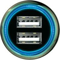 USB nabíječka do auta Hama Dual 14128, 2x USB