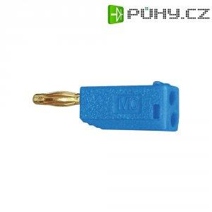 Lamelový konektor Ø 2 mm MultiContact 22.2615-23, zástrčka rovná, modrá