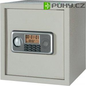 Elektronický sejf 38LB, 350 x 382 x 371 mm, šedá
