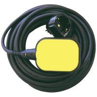 Plovákový spínač pro vypouštění s mezizásuvkou Zehnder Pumpen 11393, žlutá/černá