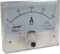 69C9 panelový MP 200A=(50mV) 80x65mm, bez bočníku