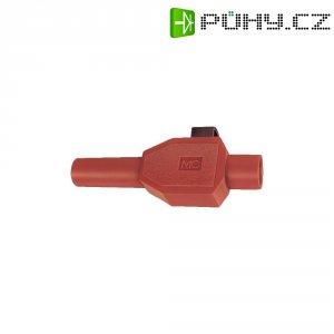 Laboratorní konektor MultiContact, Ø 4 mm, SKLS4, zástrčka rovná, červená