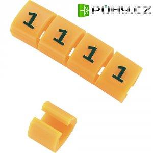 Označovací klip na kabely KSS MB1/- 548498, oranžová, 10 ks