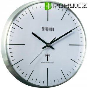 Analogové DCF nástěnné hodiny Eurochron EFWU 555 S, Ø 317 x 70 mm, stříbrná