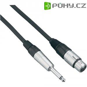 XLR kabel, XLR(F)/jack 6,3 mm,5 m, modrá