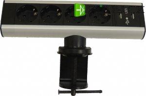 MOVETO stolní zásuvková lišta 541053 se 4 zásuvkami a 2 USB porty