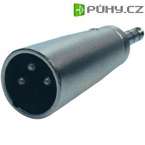 Redukce XLR (M) / stereo jack (M) 6,3 mm