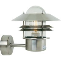 Venkovní nástěnné svítidlo s PIR senzorem Nordlux Blokhus 25031034, nerez