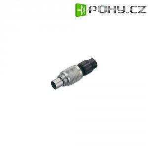 Kulatý konektor submin. Binder 711 (99-0079-100-04), 4pól., kab. zástrčka, 0,25 mm², IP40