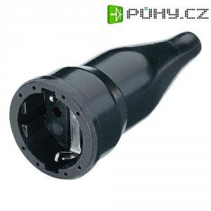 Zásuvka na kabel, 180416066, IP20, gumová, schuko, černá