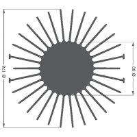LED chladič Fischer Elektronik SK 590 15 SA 10021725, 1.7 K/W, (Ø x v) 178 mm x 15 mm