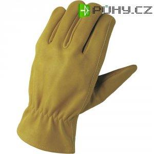 Pracovní rukavice z usně FerdyF., velikost M (8), hnědá