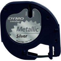 Páska do štítkovače DYMO 91228 (S0721750), 12 mm, LT LetraTAG, 4 m, černá/stříbrná