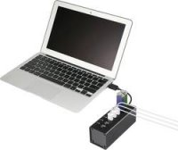 USB 3.0 hub 629548 7 portů, 50 mm, černá