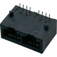 Konektor do DPS BEL Stewart Conn. SS-718802-NF, zásuvka vestavná horizontální, Snap-In