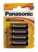 Baterie AA (R6) alkalická PANASONIC Alkaline Power (blistr 4ks)