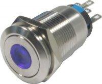 Tlačítko OFF-(ON) LAS1-19F 250V/5A, modré prosvětlení