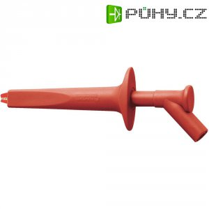 Měřicí krokosvorka MultiContact AB200, 4 mm, červená