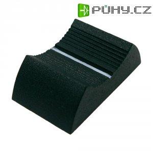Knoflík na posuvný potenciometr Cliff CP3355, CS9, 6-8 mm, šedá