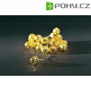 Mini LED vánoční kuličky, 20 LED, 220 cm, teplá bílá, 2,2 m