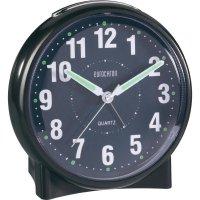 Analogové stolní hodiny Eurochron EQW-1001, S139c2, 116 x 118 x 77 mm, černá
