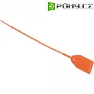 Perličkový stahovací pásek se štítkem HellermannTyton RL350-PE-RD-M0, červená