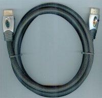 Kabel HDMI(A)-HDMI(A) 1,5m, opletený kabel 8mm DOPRODEJ,,