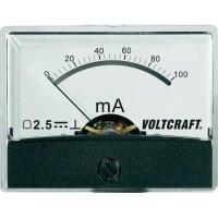Analogové panelové měřidlo VOLTCRAFT AM-60X46/100MA/DC 100 mA