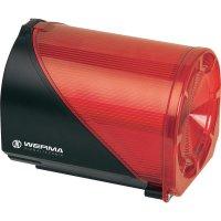 Siréna s blikajícím světlem Werma 444.100.75, IP65, 24 V AC/DC, červená