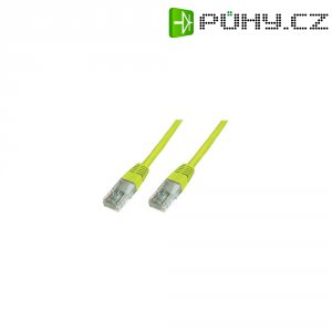 Patch kabel CAT 5e U/UTP RJ 45, vidlice ⇔ vidlice, 0,25 m, žlutý