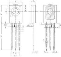 Tranzistor STMicroelectronics BD135, NPN, SOT-32, 1 A, 45 V